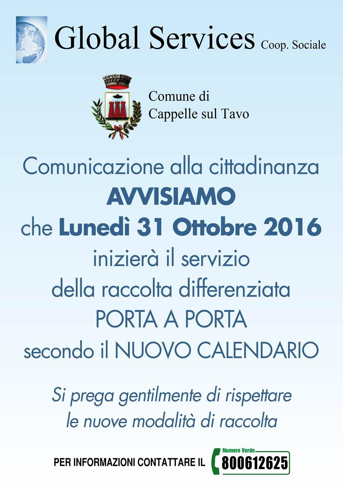 NUOVO CALENDARIO RACCOLTA DIFFERENZIATA